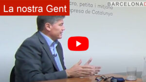 Antoni Cañete Secretari General de Pimec front el tancament de bars i restaurants