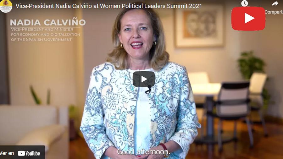 Vice-President Nadia Calviño at Women Political Leaders Summit 2021