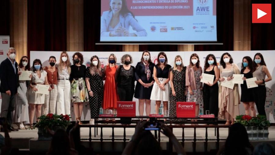 L'edició del programa d'emprenedoria AWE 2021 finalitza amb el lliurament dels premis als projectes més destacats de les innovadores