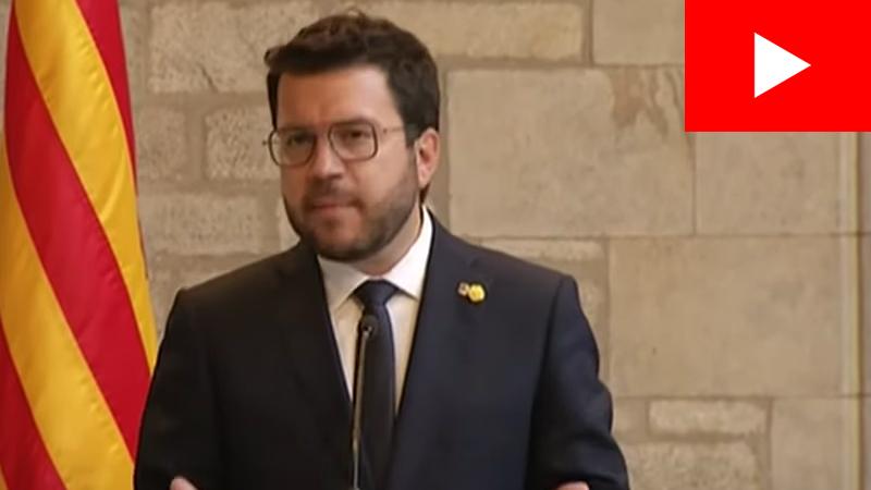 Pere Aragonès compareix després de la seva reunió amb Pedro Sánchez