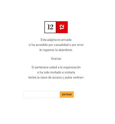 ejemplo pagina con password